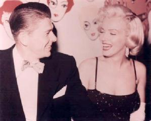 Ronald Reagan with Marilyn Monroe