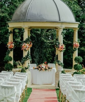 family wedding marquee