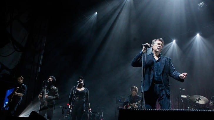 BOSTON, MA - JULY 31: Bryan Ferry plays a re-scheduled performance in support of his latest record, Avondale, with a healthy dip into the Roxy Music songbook. Shot at Blue Hills Bank Pavilion in Boston, Massachusetts on Sunday, July 31, 2016.