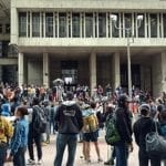 Students at rally at Boston City Hall By NewtonCourt (Own work) [CC BY-SA 4.0], via Wikimedia Commons