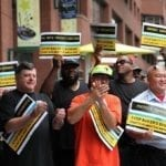MBTA workers protest privatization. Image courtesy INVEST NOW.