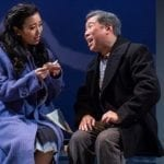Grace Yoo and Gary Thomas Ng in SpeakEasy Stage's production of Allegiance. Photo by Nile Scott Studios.