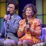 Chaz Pofahl as Jim Bakker and Kirsten Wyatt as Tammy Faye Bakker. Photo by Joan Marcus.