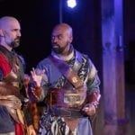 Nael Nacer as Macbeth and Maurice Parent as Banquo. Photo by Nile Scott Shots.