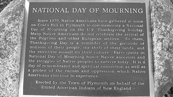 National Day of Mourning Plaque. Photo by Melissa Doroquez, CC BY-SA 2.0, https://flickr.com/photos/merelymel/3119433076/.