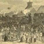 Harper's Magazine, August 11, 1877, Blockade of Engines at Martinsburg, West Virginia