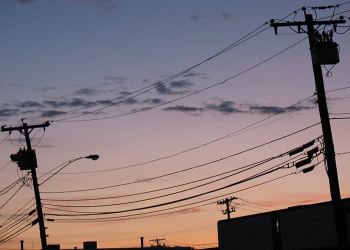 Somerville power lines. Photo by Aaron Knox.