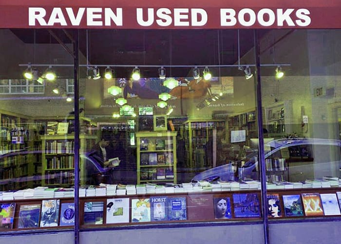 Raven Used Books storefront photo