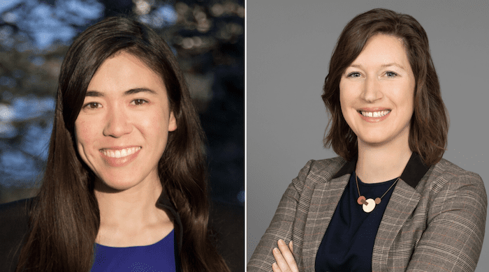 Candidates Erika Uyterhoeven and Catia Sharp