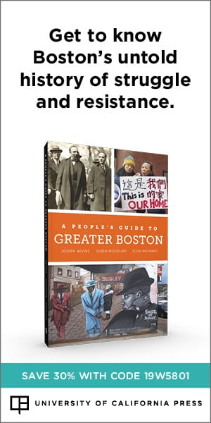 NEW BOOK: A People's Guide to Greater Boston. Save 30% with code 19W5801.