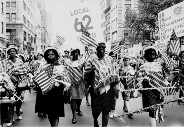ILGWU Local 62 marches in a Labor Day parade - photo courtesy of the Kheel Center.