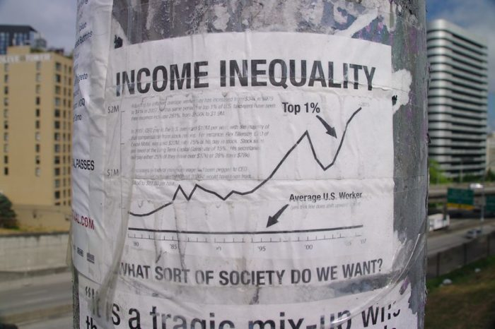 Income Inequality. Photo by mSeattle CC-BY-2.0.